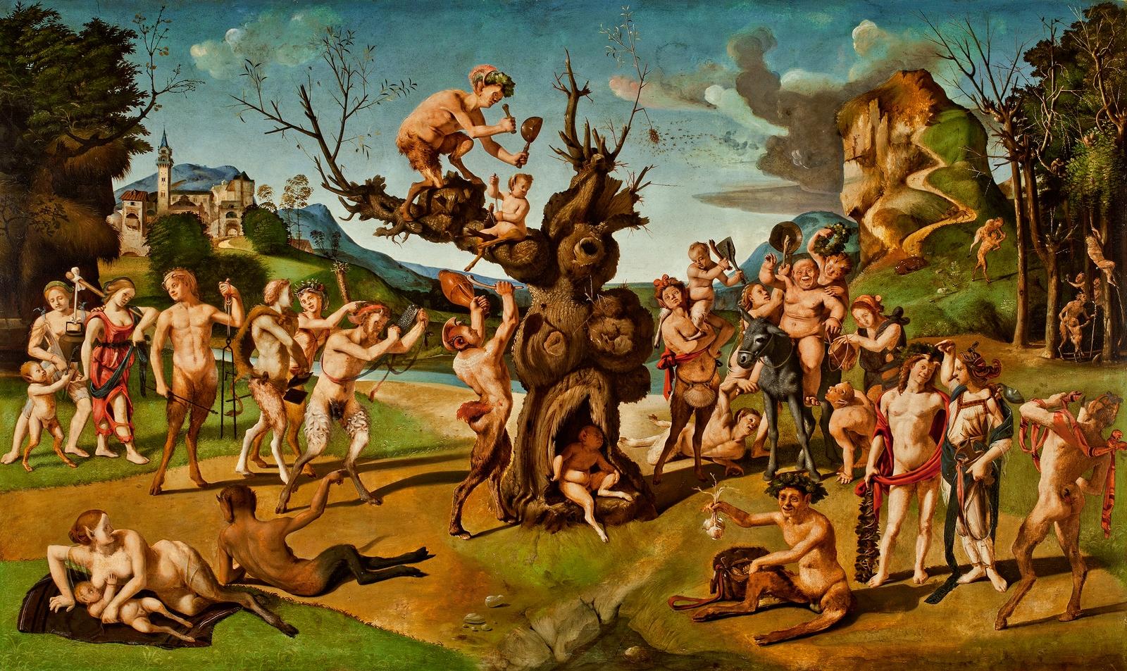 Piero di Cosimo 1499 Bacco_scoperto_miele ]Worcester Art Museum