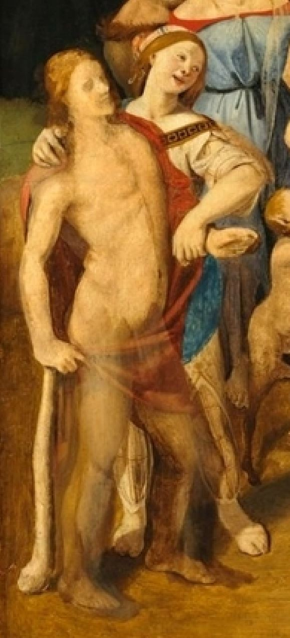 Piero di Cosimo 1500 ca Disavventure_di_Sileno Fogg Art Museum detail bacchus