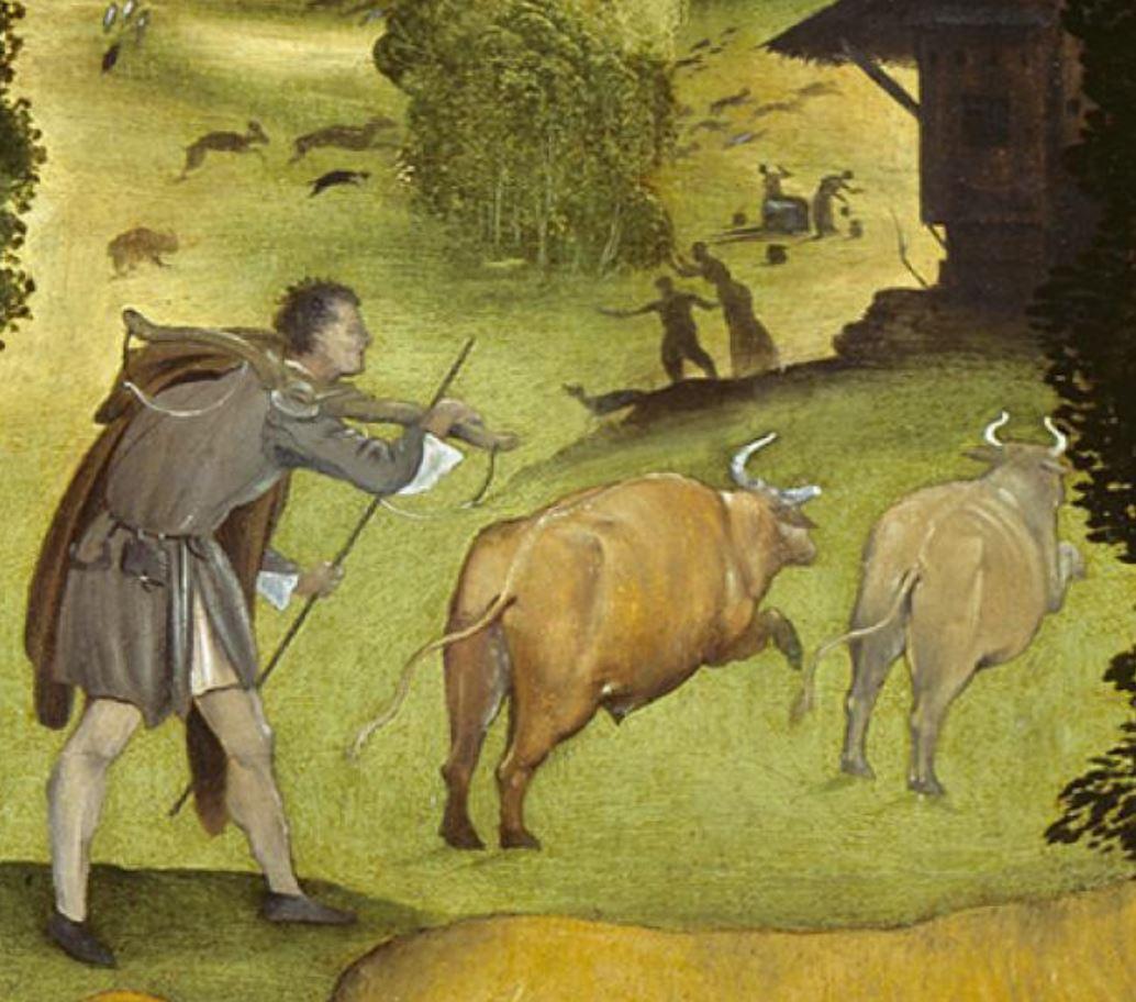 Piero di Cosimo 1505 ca La foret en feu ashmolean museum oxford detail1