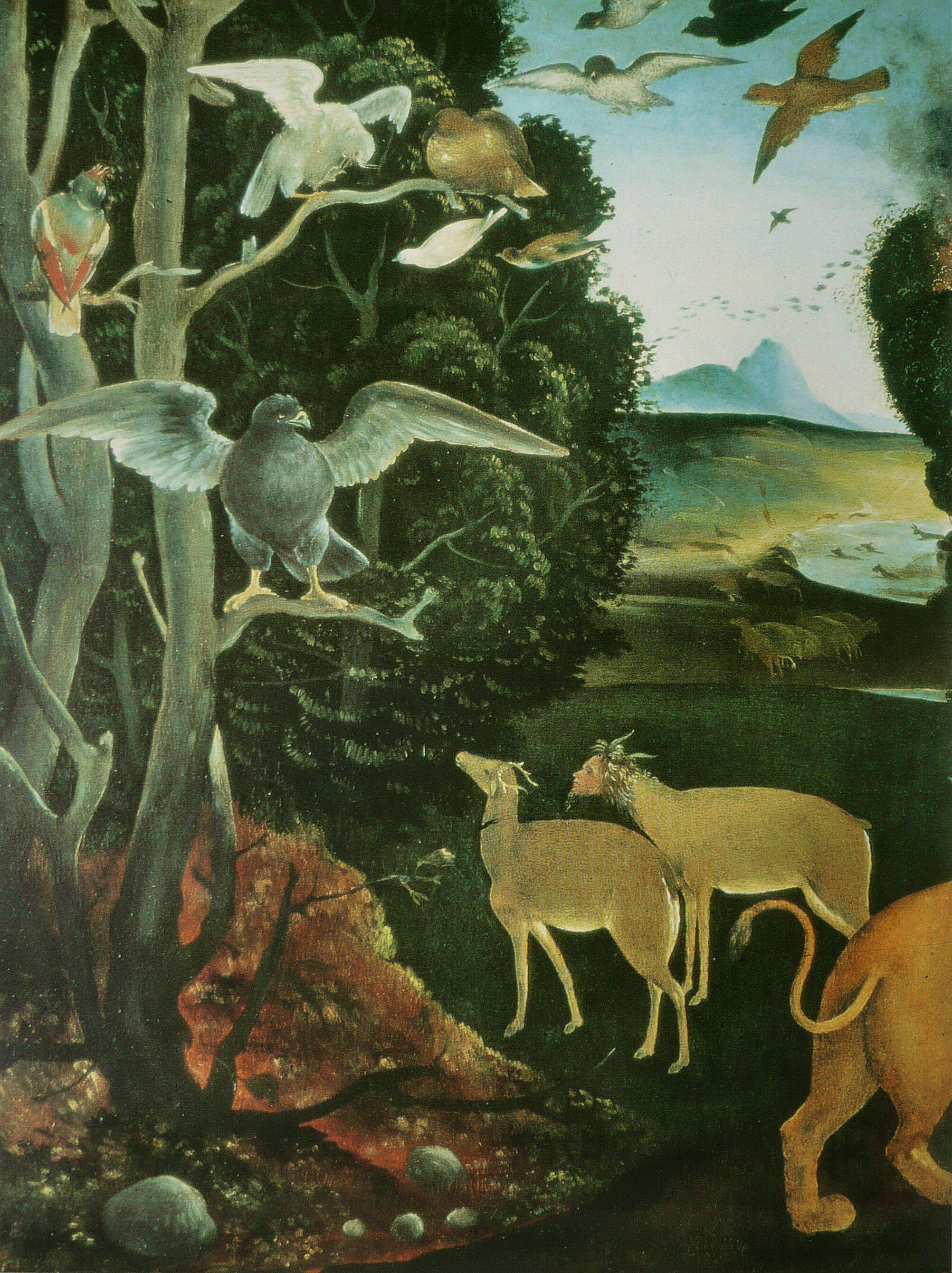Piero di Cosimo 1505 ca La foret en feu ashmolean museum oxford detail3