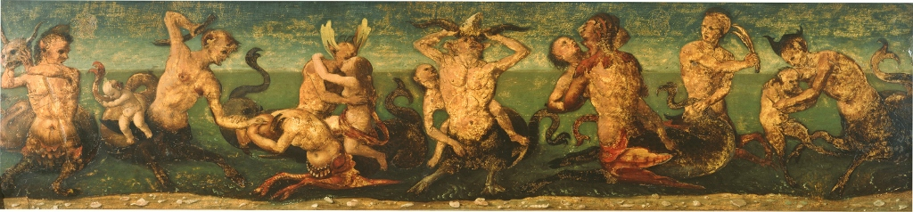 Piero di Cosimo Tritons_and_Nereids 37_x158_cm Collection of Catherine B. and Sydney J. Freedbergi