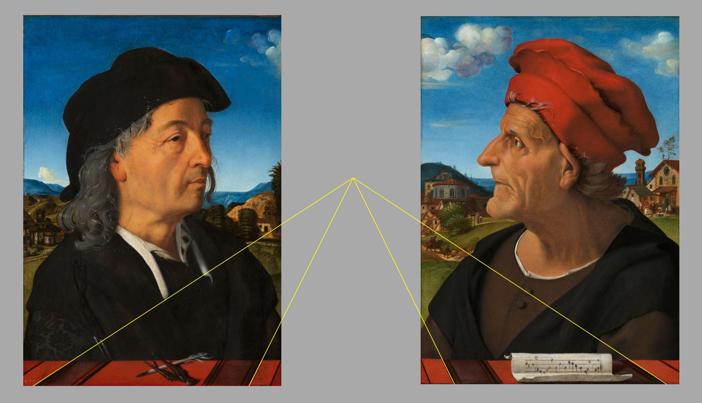Portraits of Giuliano and Francesco Giamberti da Sangallo schema