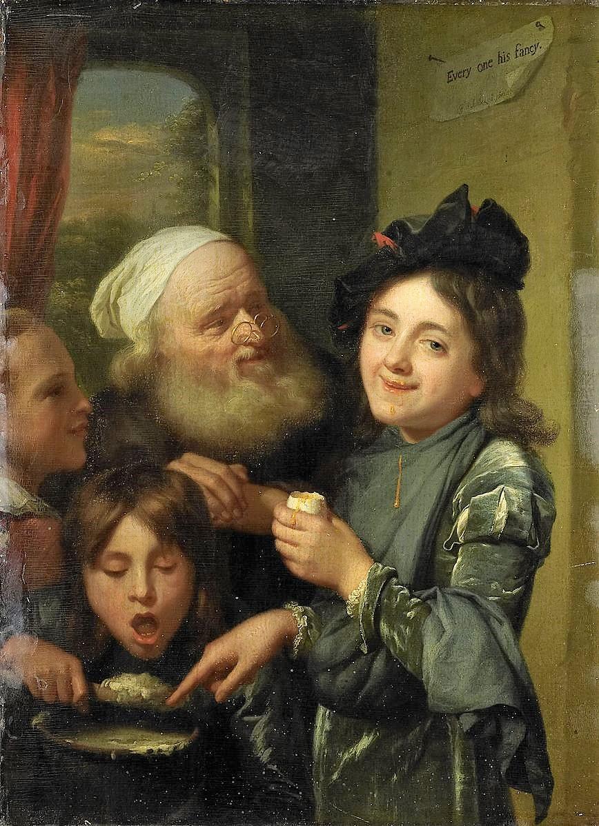 Schalcken 1670-75 Every one his fancy Rijksmuseum