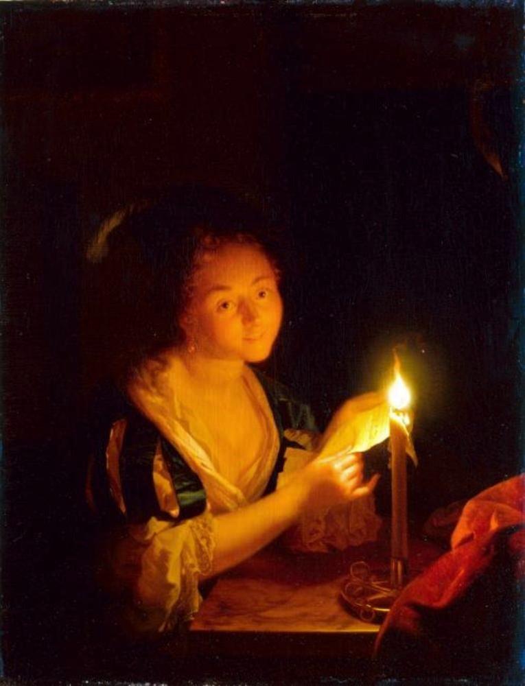 Schalcken 1685-90 Brieflesendes Madchen_Gal.-Nr._1786_-_Staatliche_Kunstsammlungen_Dresden