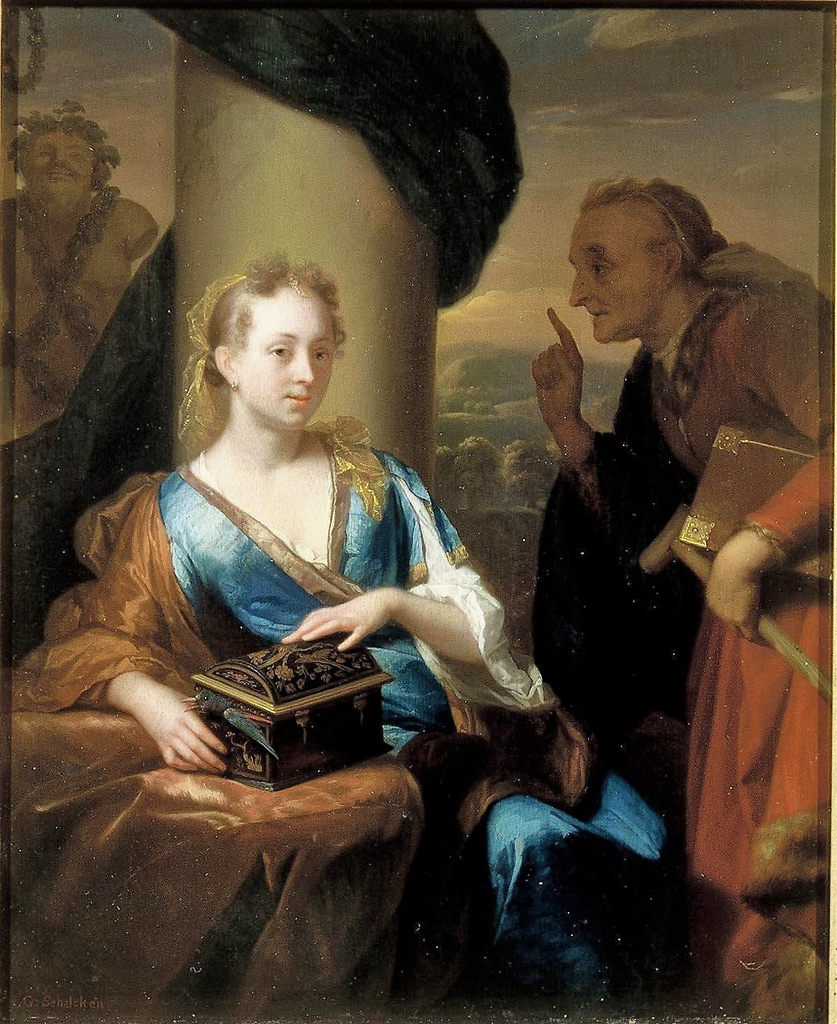 Schalcken 1690 ca A useless Moral Lesson Mauritshuis