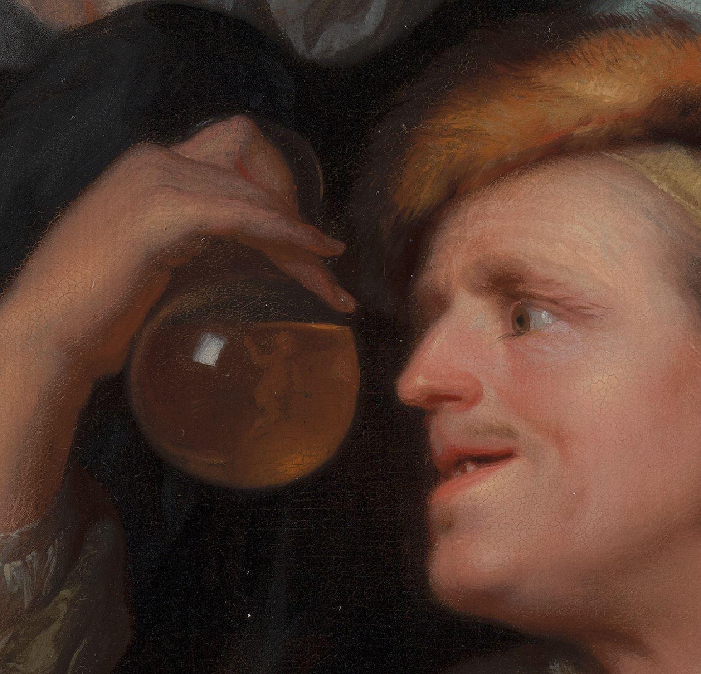 Schalcken 1690 ca The Medical Examination Mauritshuis detail
