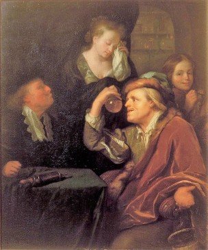 Schalcken 1690 ca The Medical Examination Mauritshuis