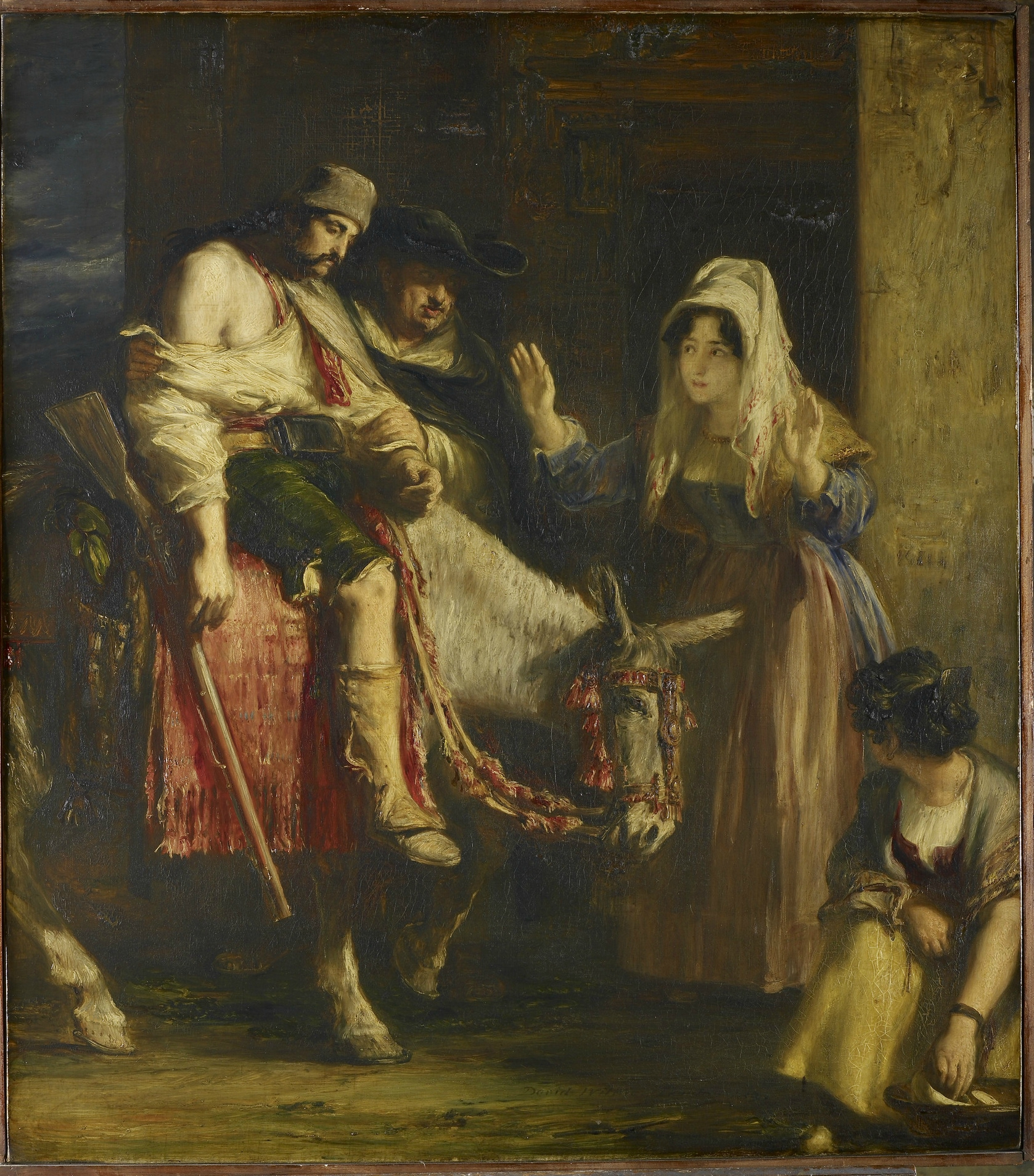 Sir David WilKie The guerilla return 1830 Royal Collection Trust