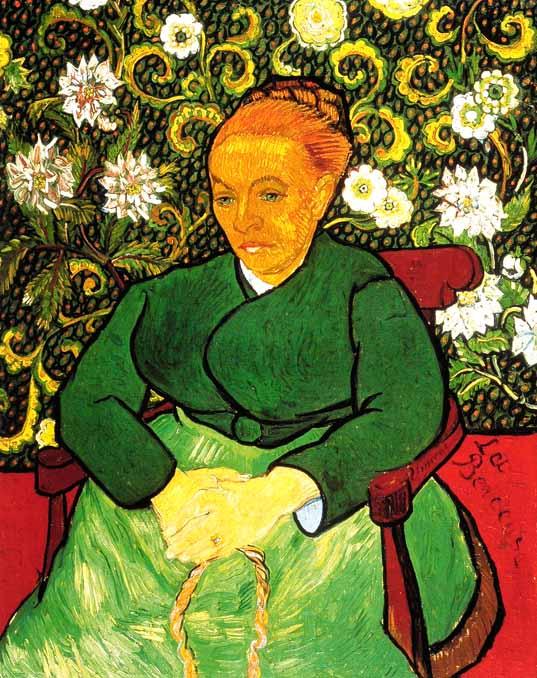 Van Gogh 1888 12-89 01 La Berceuse (Mme Roulin) (F 504) Kroller-Muller Museum, Otterlo