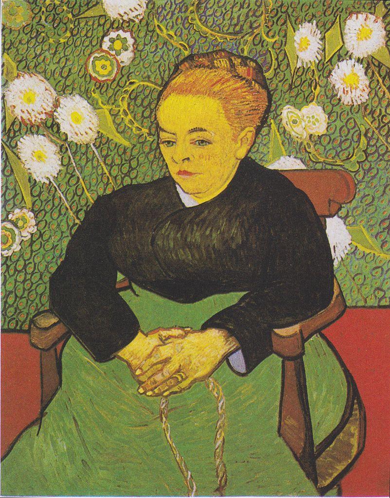 Van Gogh 1888 12-89 01 La Berceuse (Mme Roulin) (F 508) Museum of Fine Arts Boston