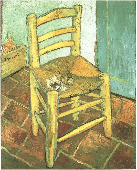 Van Gogh 1888 12 Vincent's-Chair-with-His-Pipe The National Gallery