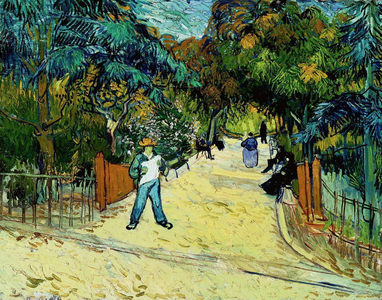 Van Gogh 1888 Entree du Jardin Public Philipps collection Washington F566