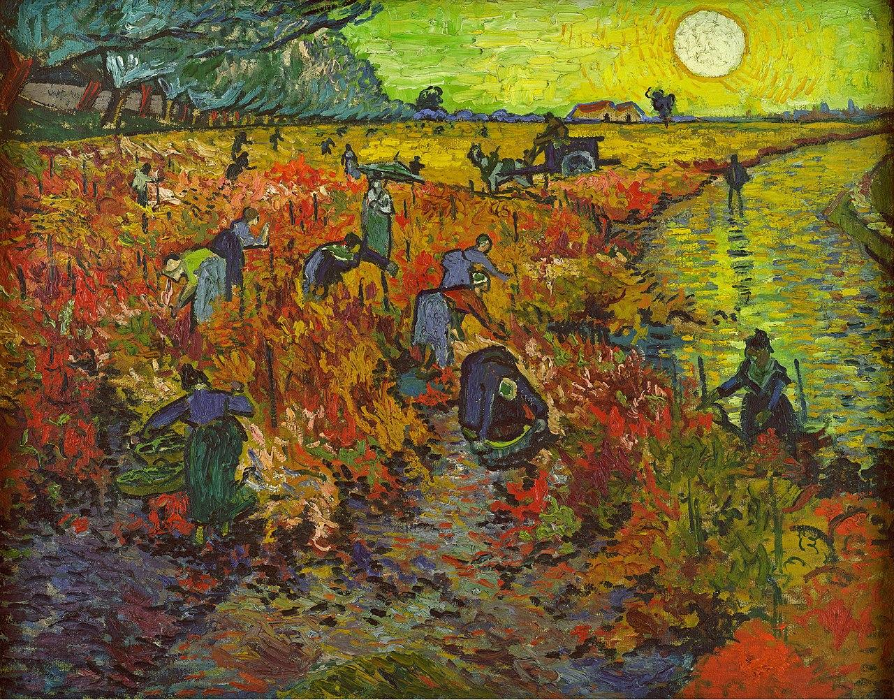 Van Gogh 1888 La vigne rouge Musee des Beaux-Arts Pouchkine (F 495) 75 x 90