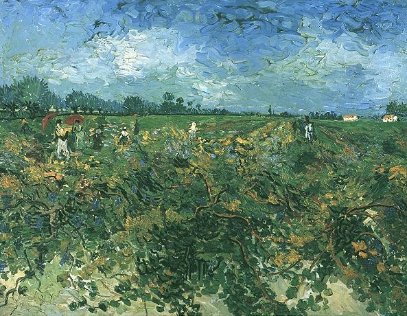 Van Gogh 1888 La vigne verte (F 475) Kröller-Muller Museum Otterlo 73,5 x 92,5 cm