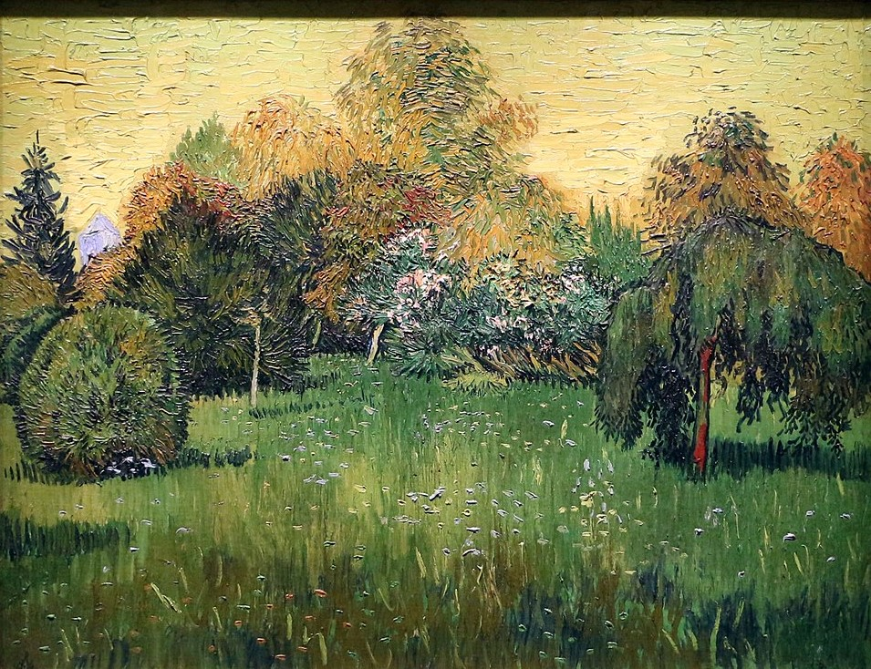 Van Gogh 1888 public_garden_shrub_weeping_tree Art Institute of Chicago, Chicago
