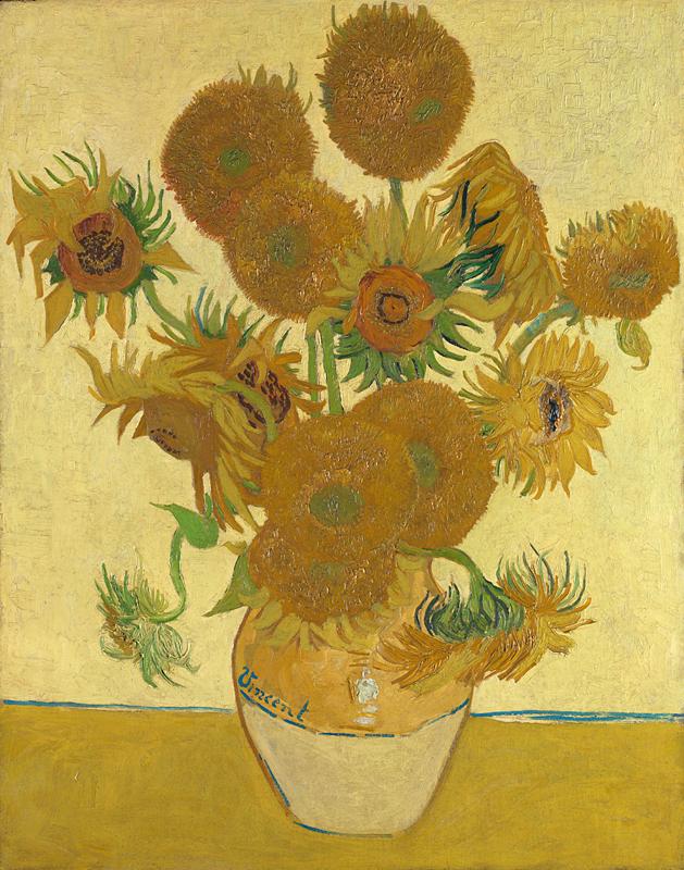 Van Gogh 1888a Vase avec quinze tournesols National Gallery (F 454 ) 93 x73
