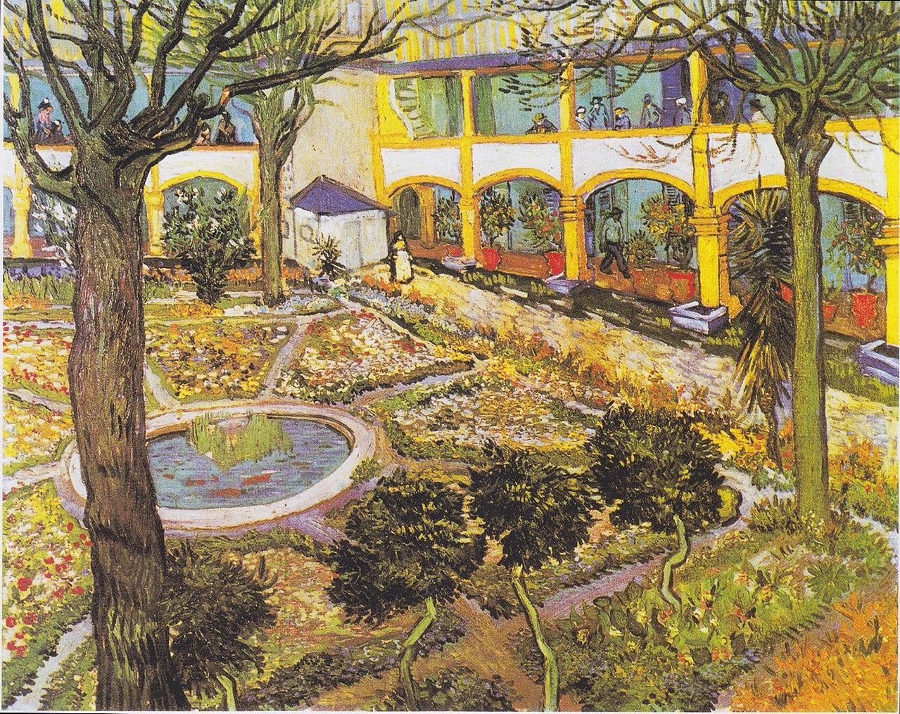 Van Gogh 1889 April Jardin de l'hopital d'Arles Sammlung Oskar Reinhart, Winterthur F519