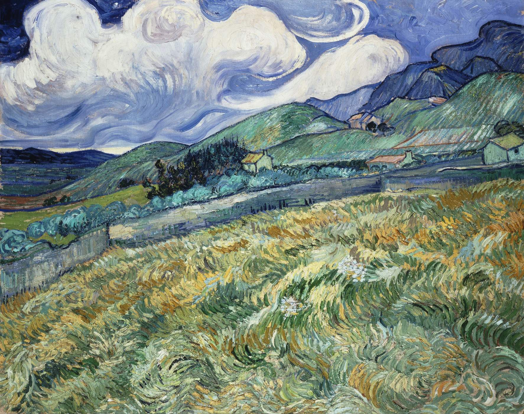 Van Gogh 1889 Champ de ble apres l'orage Ny Carlsberg Glyptotek Copenhague F611