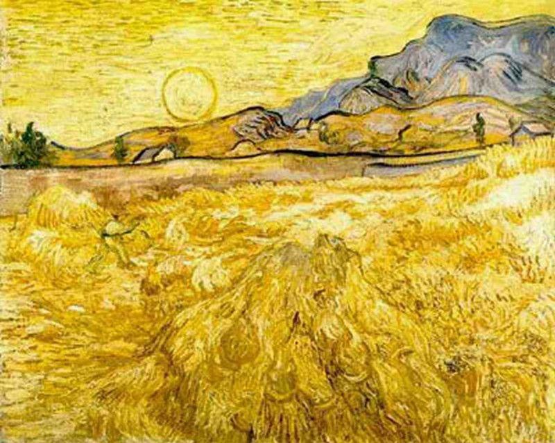 Van Gogh 1889 The Reaper Kroller-Muller Museum, Otterlo, Netherlands