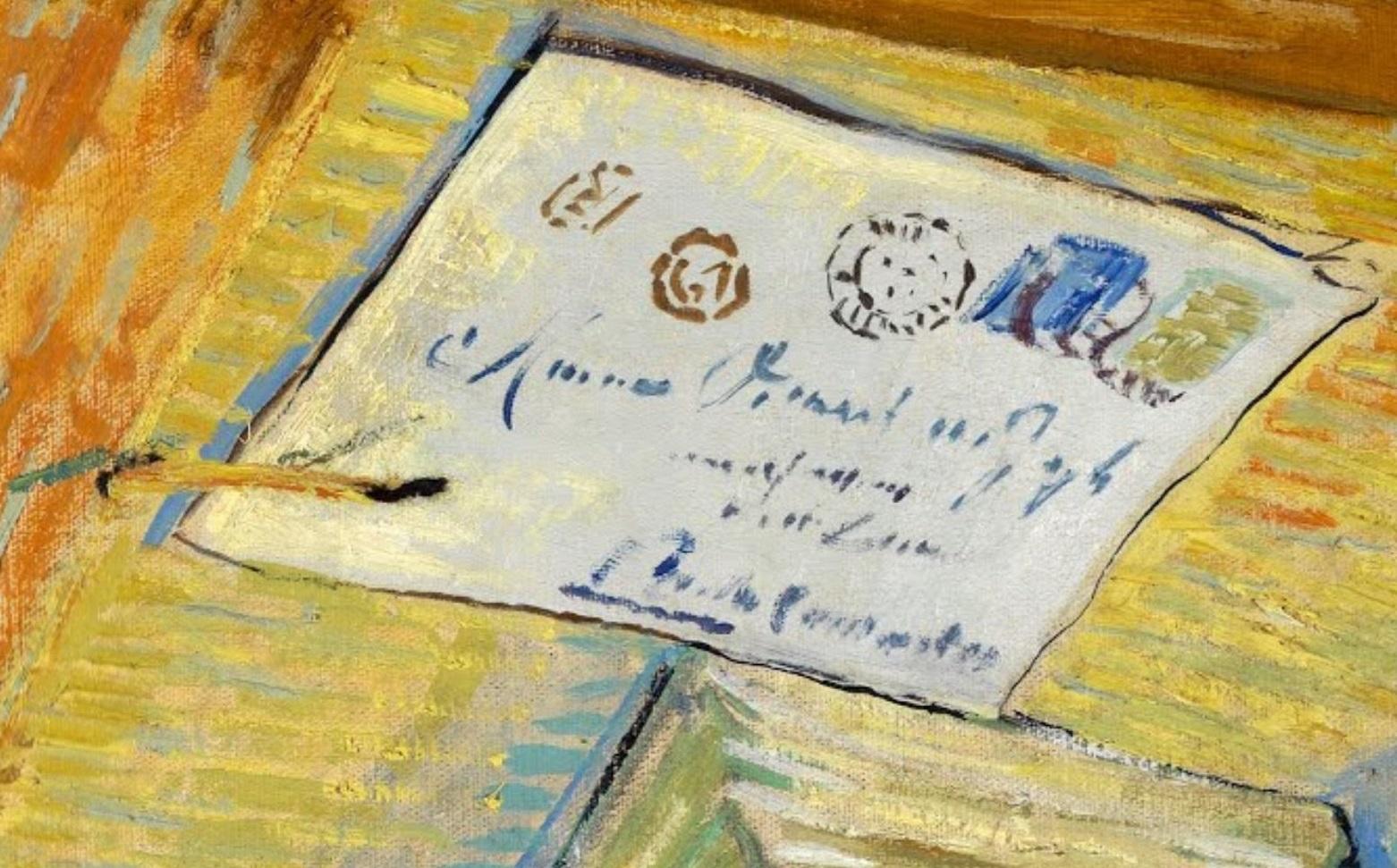 Van Gogh 1889 janvier Nature morte avec planche a dessin et oignons musee Kroller-Muller Otterlo (F 604) detail