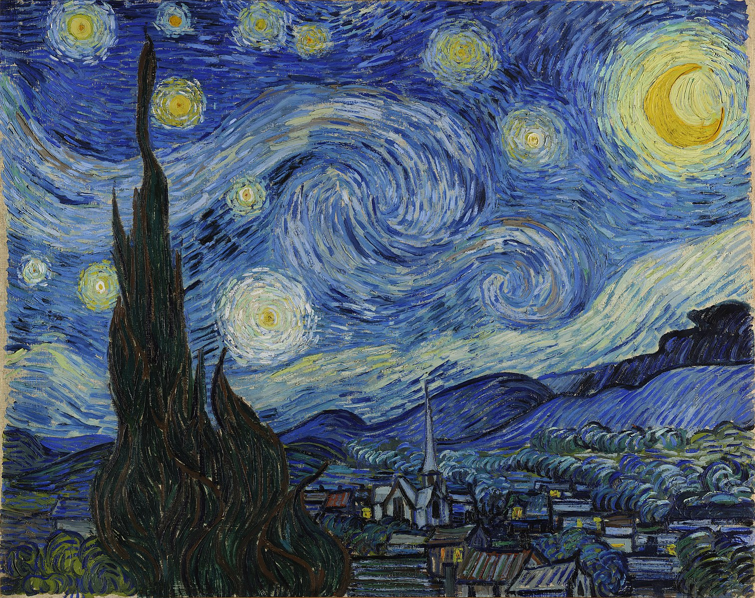 Van Gogh 1889 mai Starry_Night_ Moma 73 x 92.