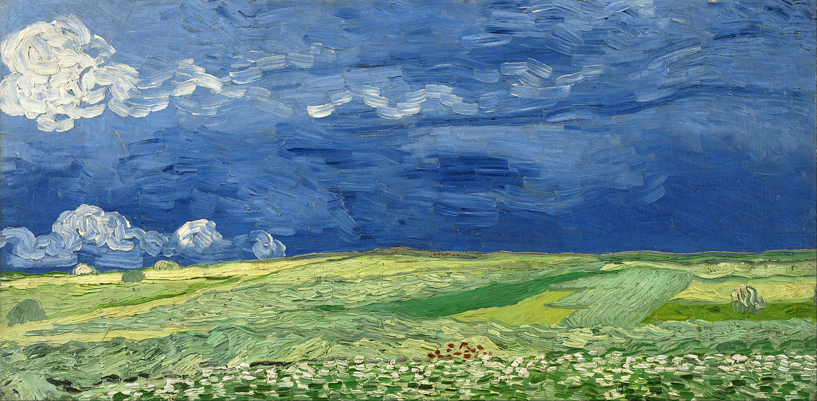 Van Gogh 1890 _Wheatfield_under_thunderclouds_-_Google_Art_Project