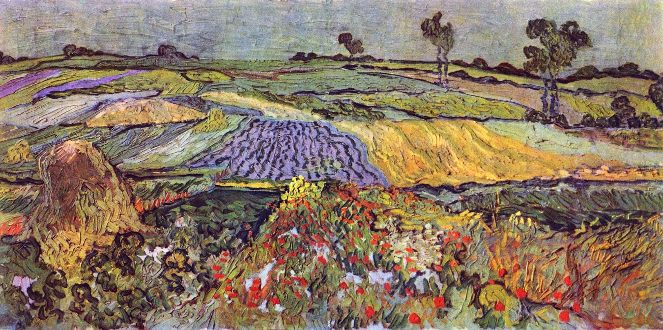 Van Gogh 1890 juin La plaine d'Auvers Kunsthistorisches Museum Vienne F775