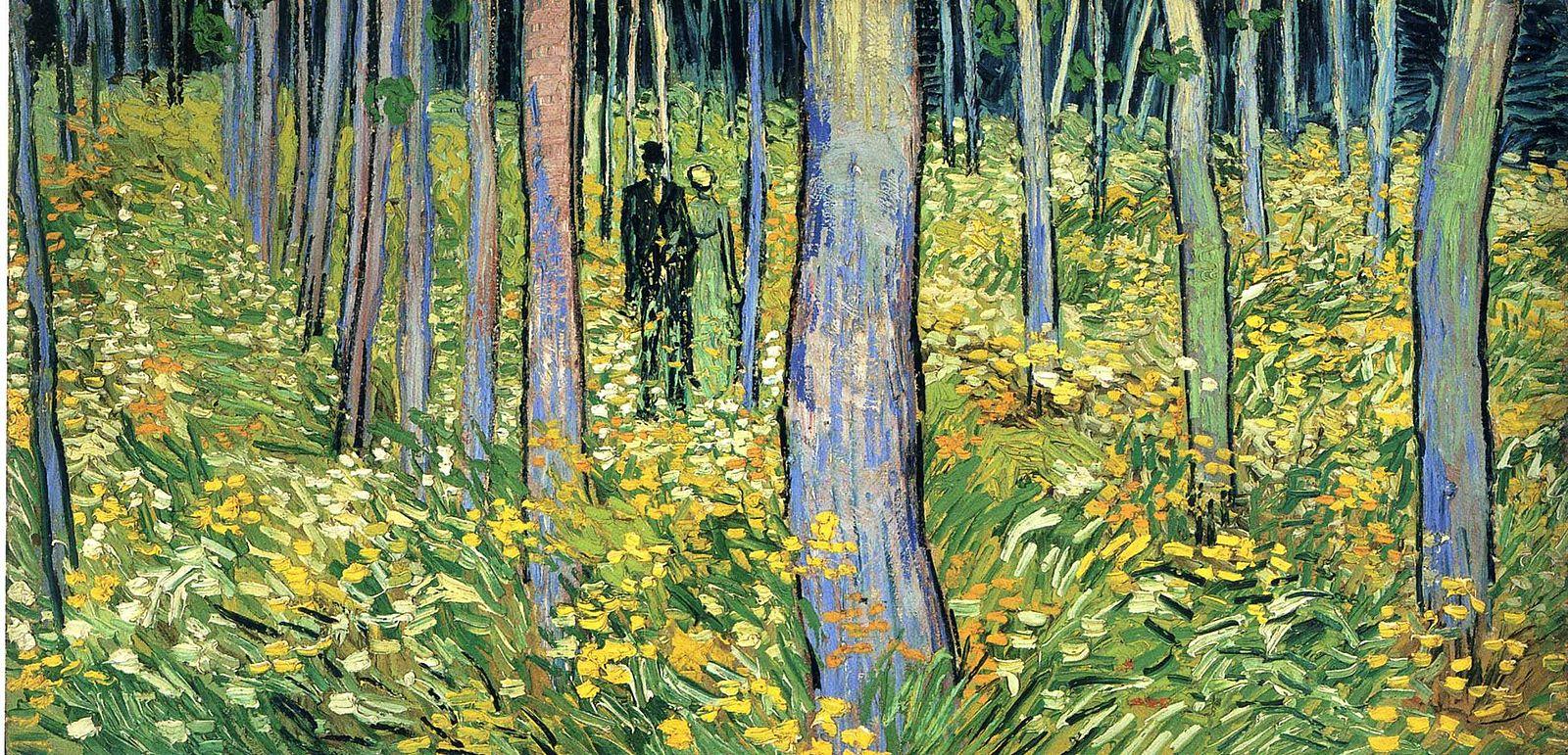 Van Gogh 1890 juin Sous-bois avec couple F773