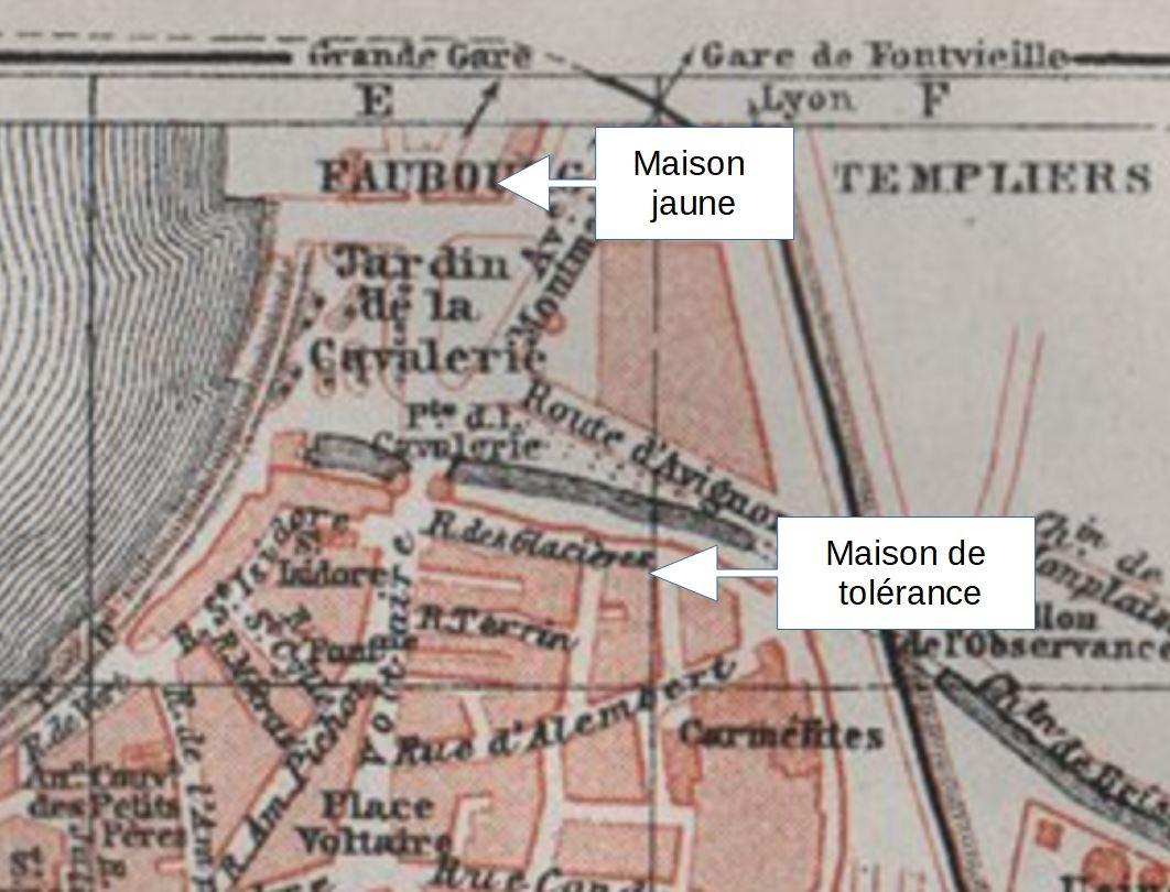 Van Gogh Jardin de la cavalerie plan