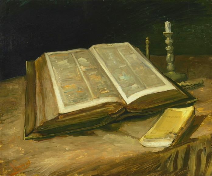 Van-gogh 1885 Nature morte a la Bible ouverte Musee van Gogh Amsterdam
