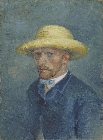 Van gogh 1887 ete Portrait de Theo-with-Straw-Hat F 294 Van Gogh Museum 19.0 cm x 14.1 cm