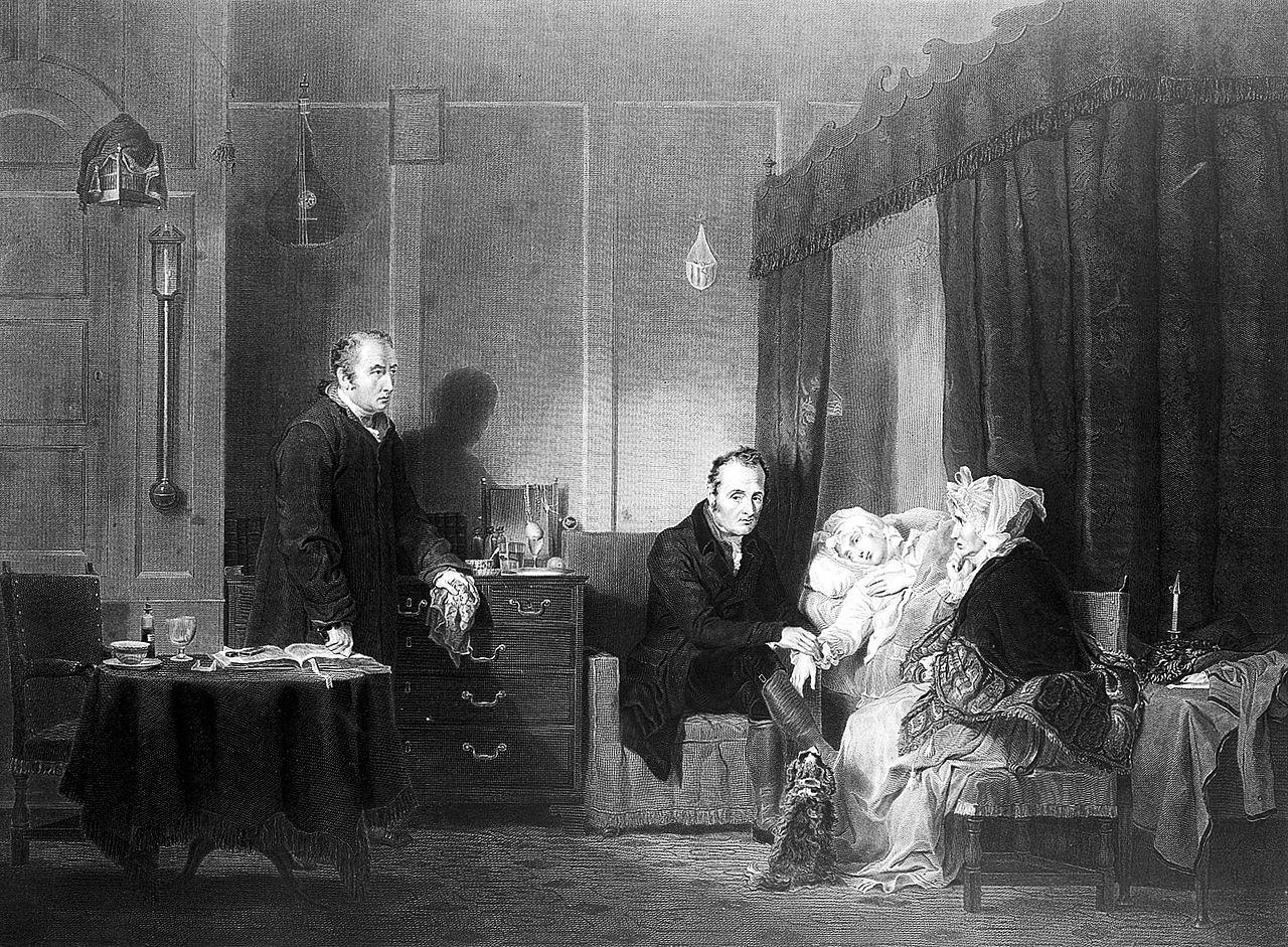 Wilkie 1809 The sick lady gravure de Engleheart 1838