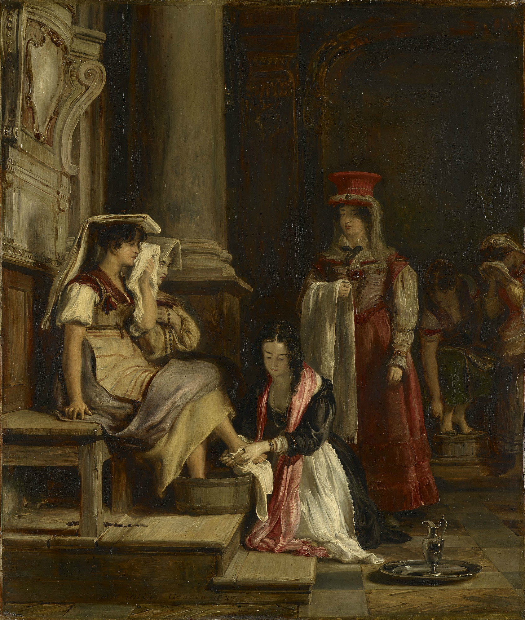 Wilkie 1827 A Roman Princess Washing the Feet of Pilgrims