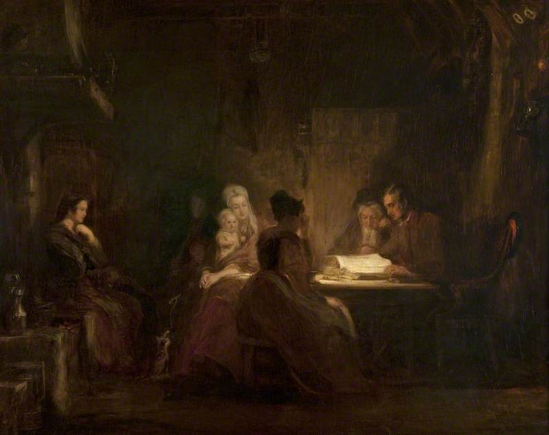 Wilkie, David, 1785-1841; The Cottar's Saturday Night