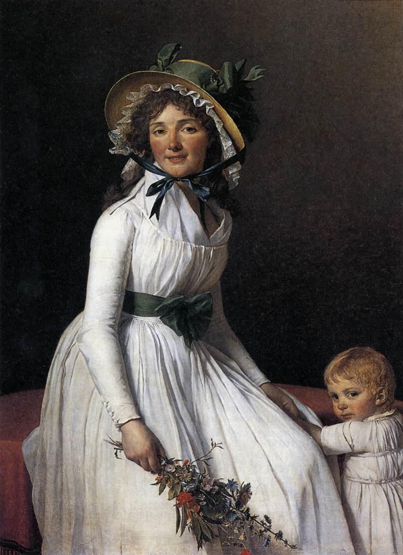 david 1795 portrait-d-emilie-seriziat-et-son-fils-Louvre
