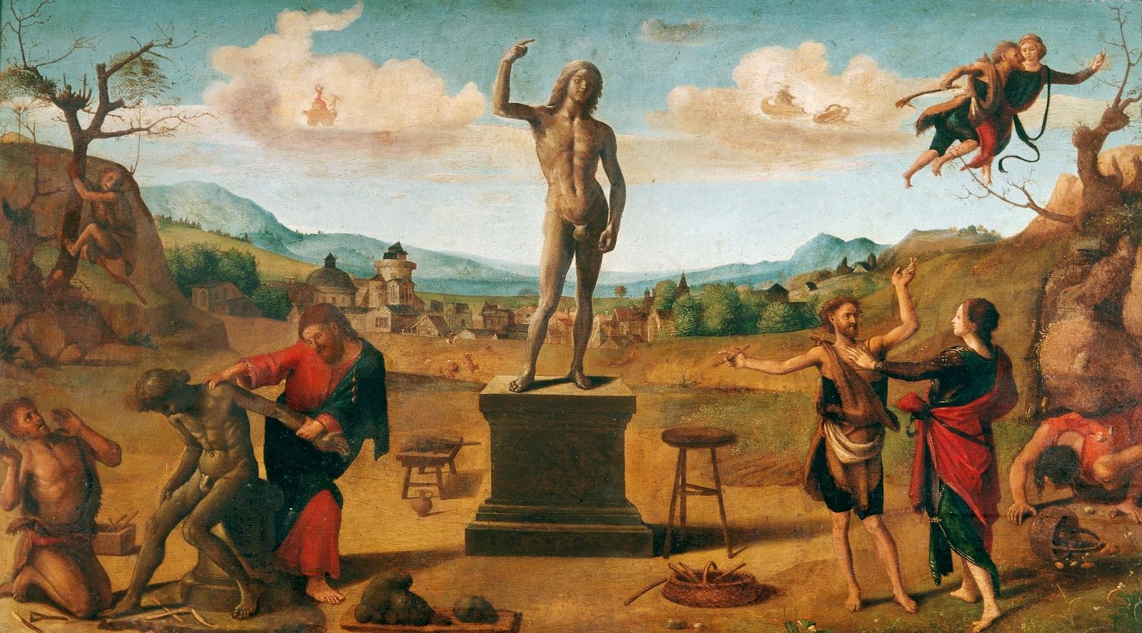 piero di cosimo 1515 ca histoire de promethee alte pinakothek munich