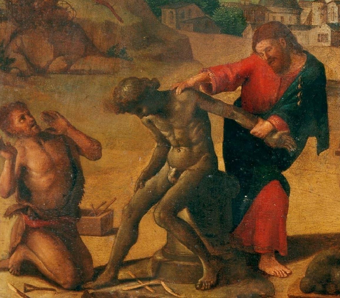 piero di cosimo 1515 ca histoire de promethee mba strasbourg detail Jupiter
