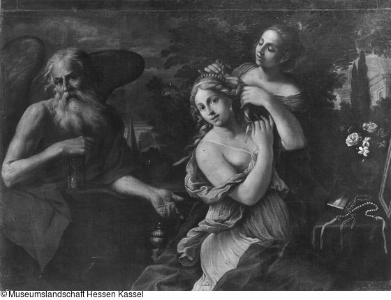 Cerrini, Giovanni Domenico 1670 - 1680 Le temps ravit la beaute Kassel Museum