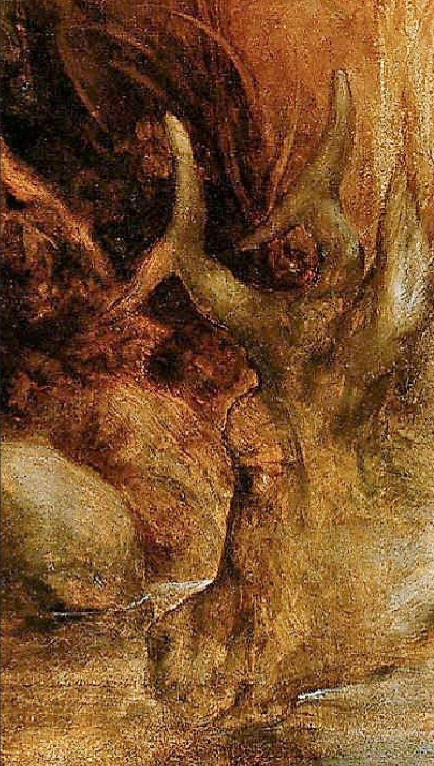 Correge 1530 ca Jupiter et Io Kunsthistorisches Museum Wien 184 x 92,5 detail cerf