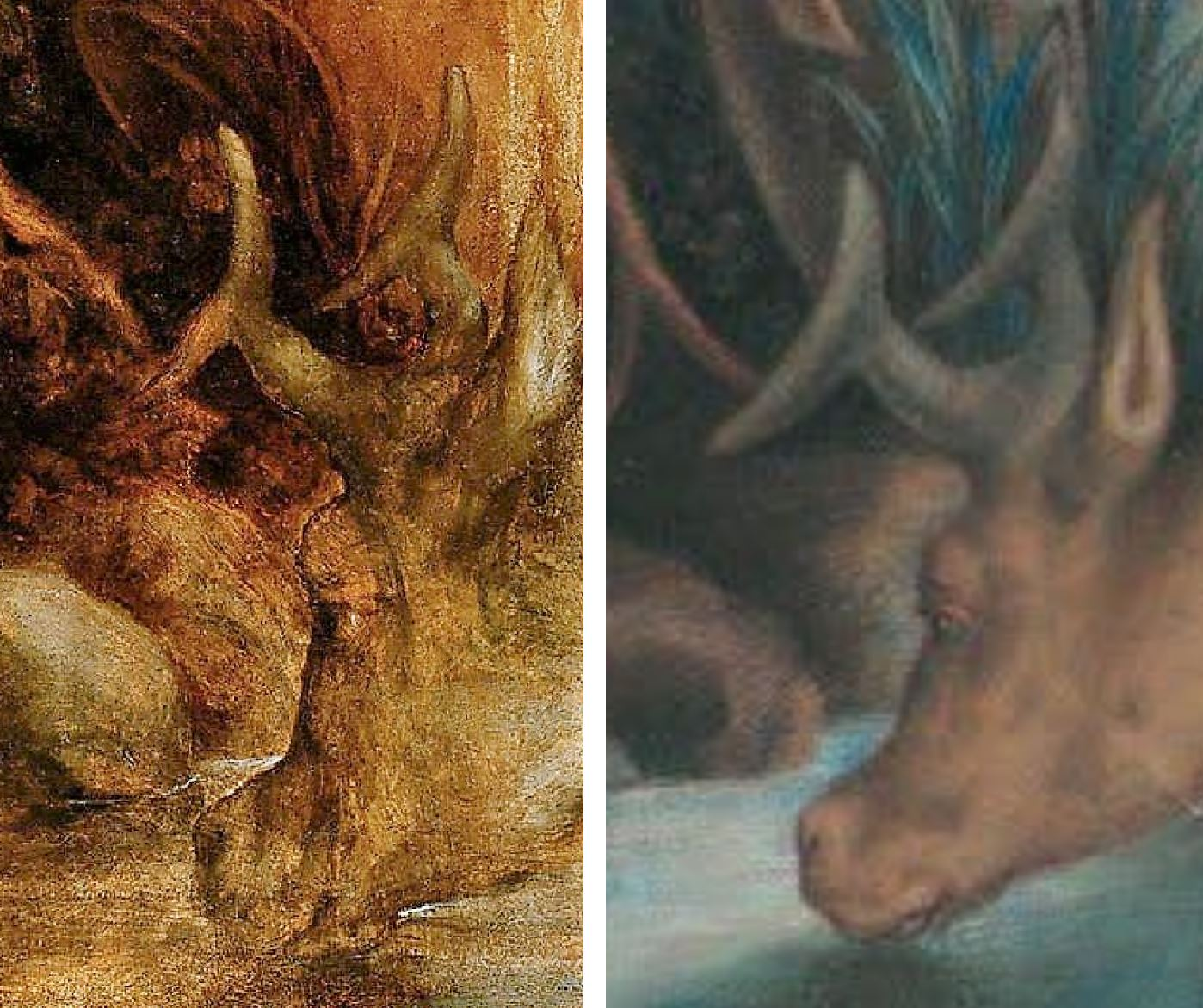Correge 1530 ca Jupiter et Io Kunsthistorisches Museum Wien cerf