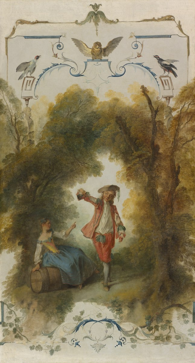 Lancret 1723-27 panneau decoratif avec un tonneau Cleveland, The Cleveland Museum of Art