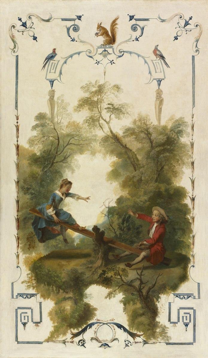 Lancret 1723-27 panneau decoratif avec une balancoire Cleveland, The Cleveland Museum of Art