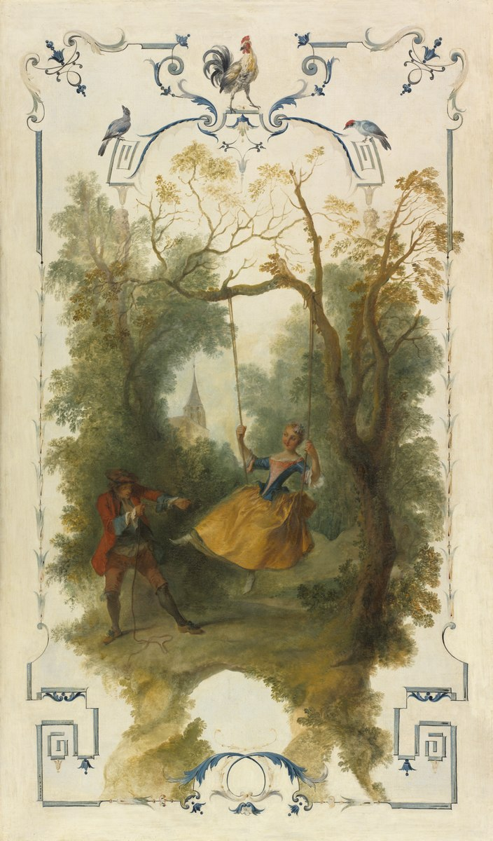 Lancret 1723-27 panneau decoratif avec une escarpolette Cleveland, The Cleveland Museum of Art