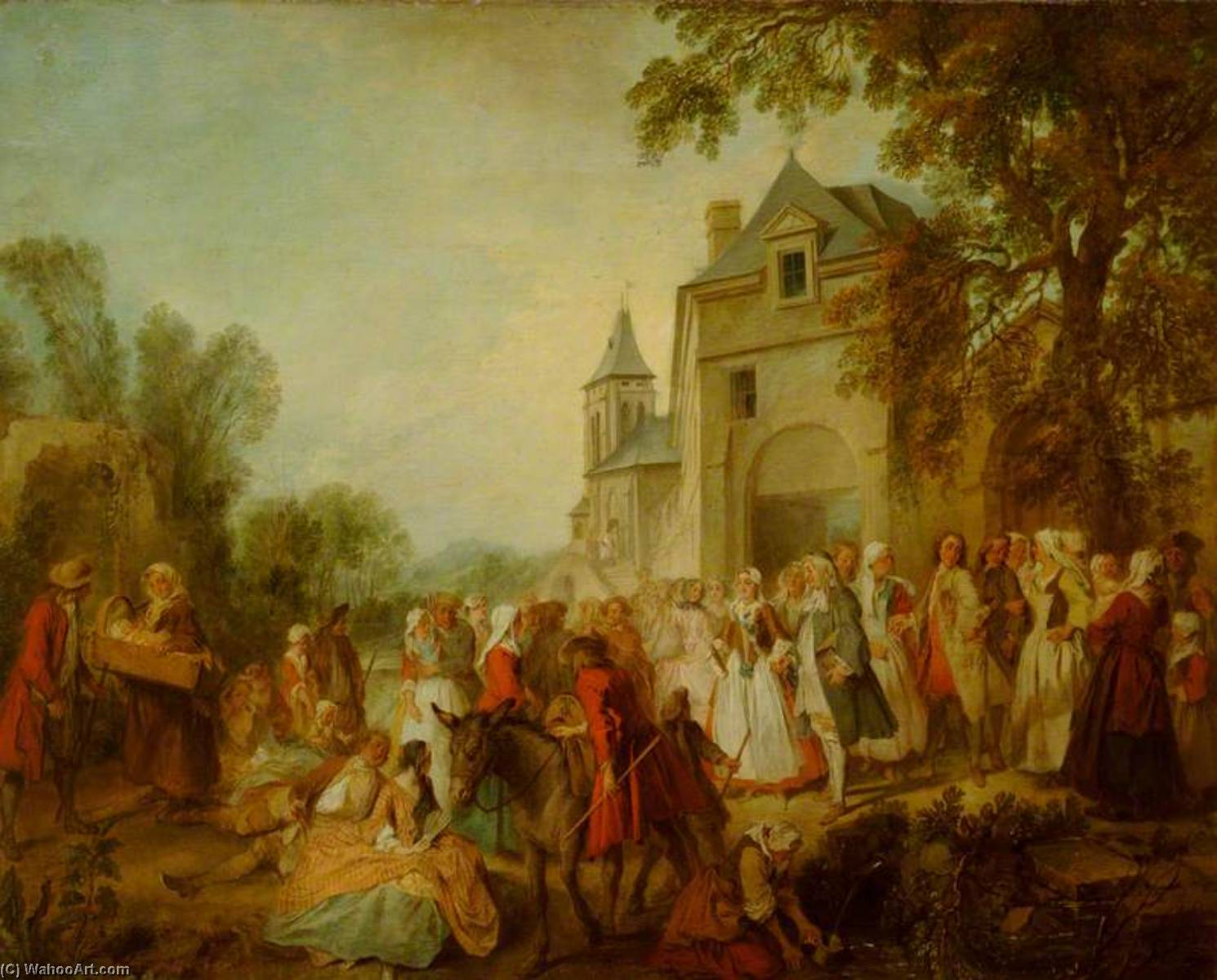 Lancret 1737-40 Le mariage au village Waddesdon Manor