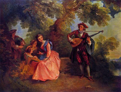 Lancret 1743 ca Le concert champetre coll priv