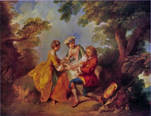 Lancret 1743 ca Le jeu du Pied-de-Boeuf coll priv