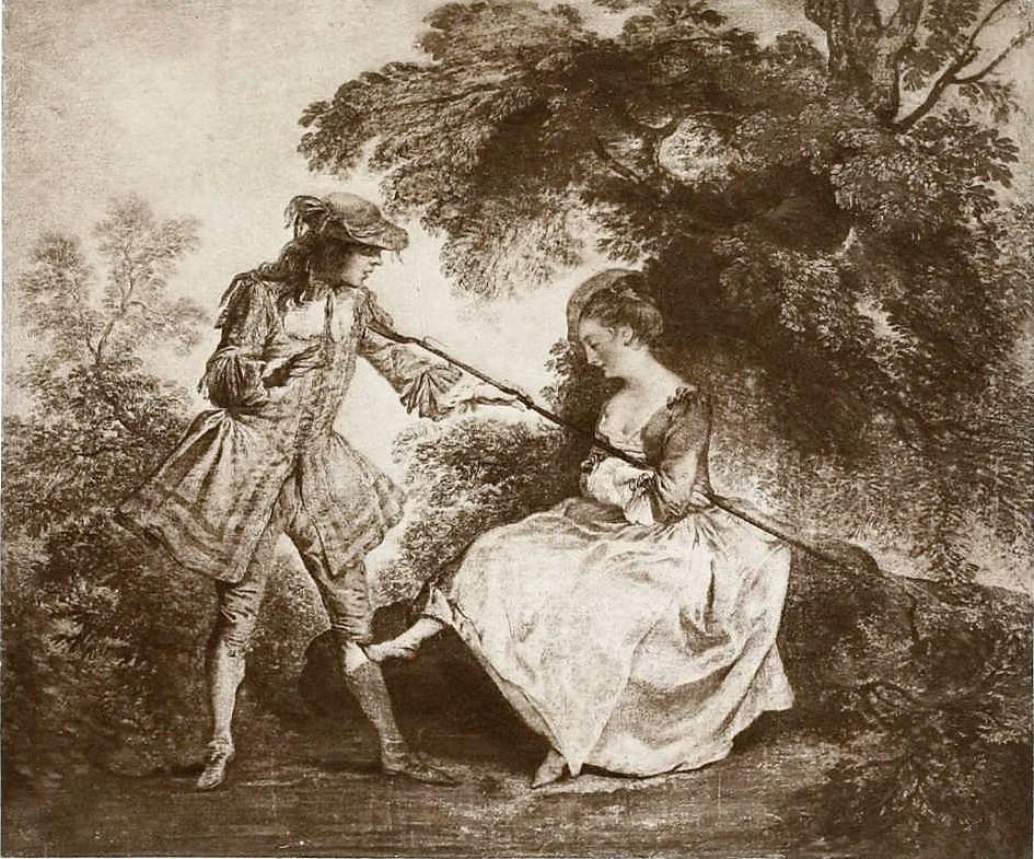 Lancret-La-Bergere-Endormie-Et-Le jeune seigneur Musee Jacquemart Andre