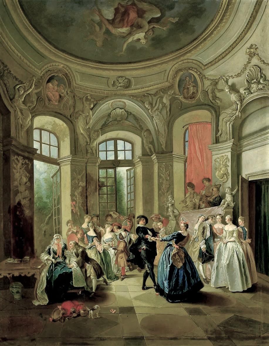 Lancret W205 1730 Danse dans un pavillon Schloss Charlottenburg Berlin 130 x 97 cm