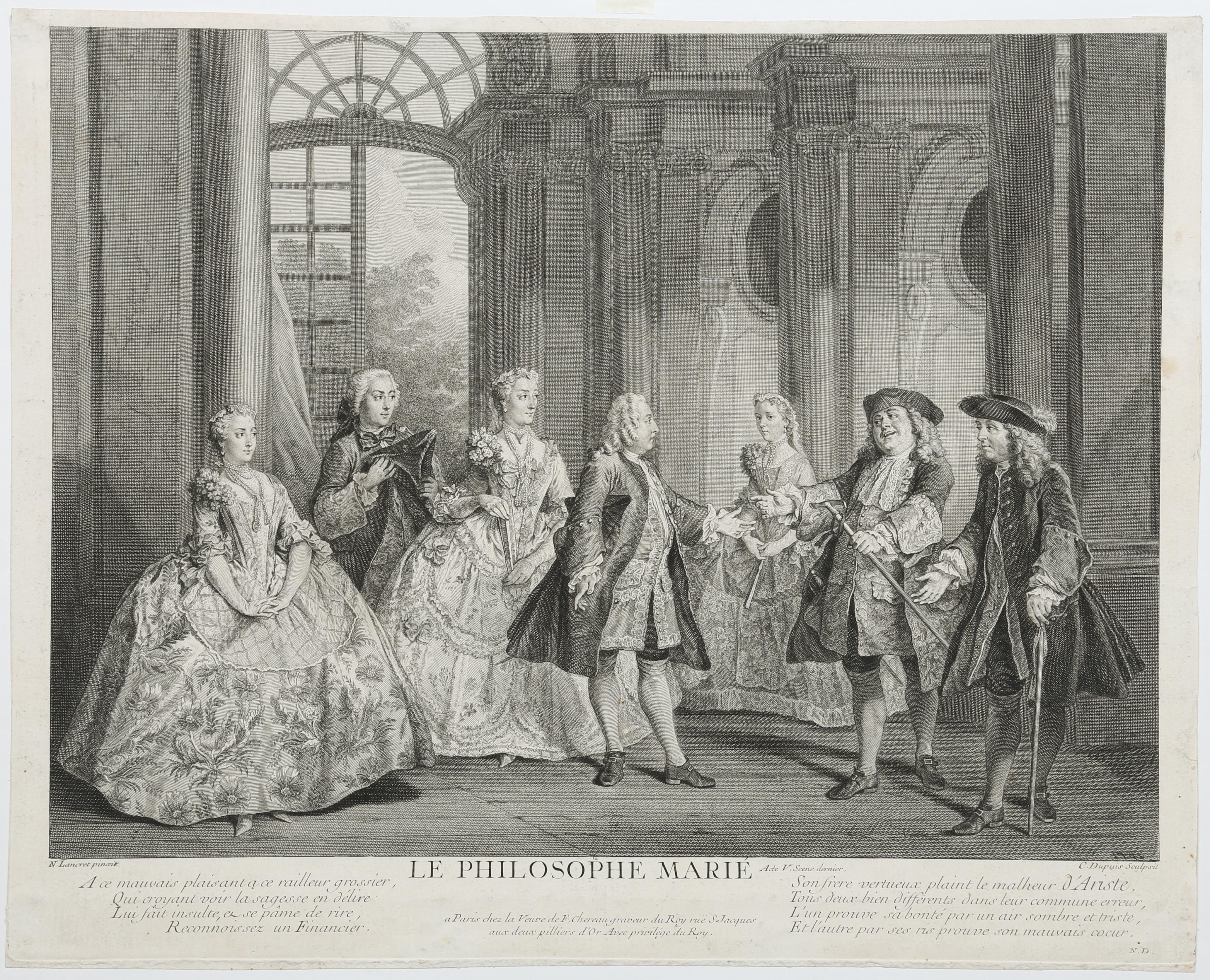 Lancret W258. 1739 Le philosophe marie
