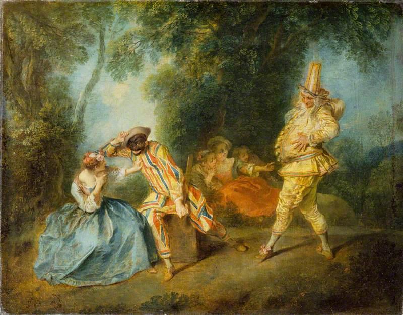 Lancret, Nicolas, 1690-1743; An Italian Comedy Scene